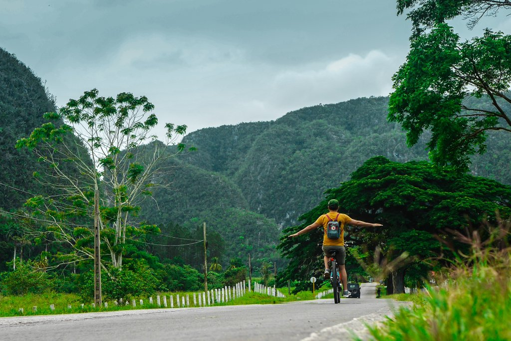 Me on a bike in Vinales, Cuba